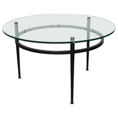 French Vintage Coffee Table Roger Le Bihan, 1950s