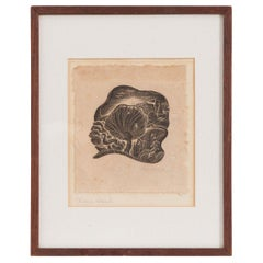 French Vintage Drawing