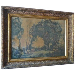 French Vintage Framed Print of Dance of the Nymphs by JB Carot