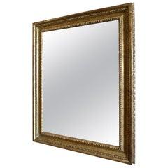 French Vintage Gold-Leaf Handcrafted Framed Mirror