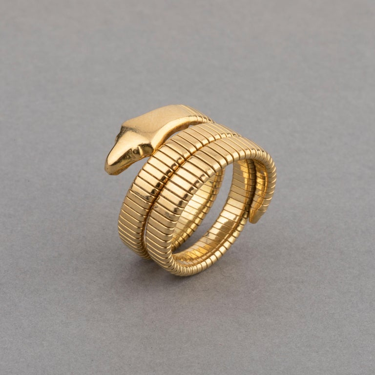 Women's French Vintage Gold Snake Ring