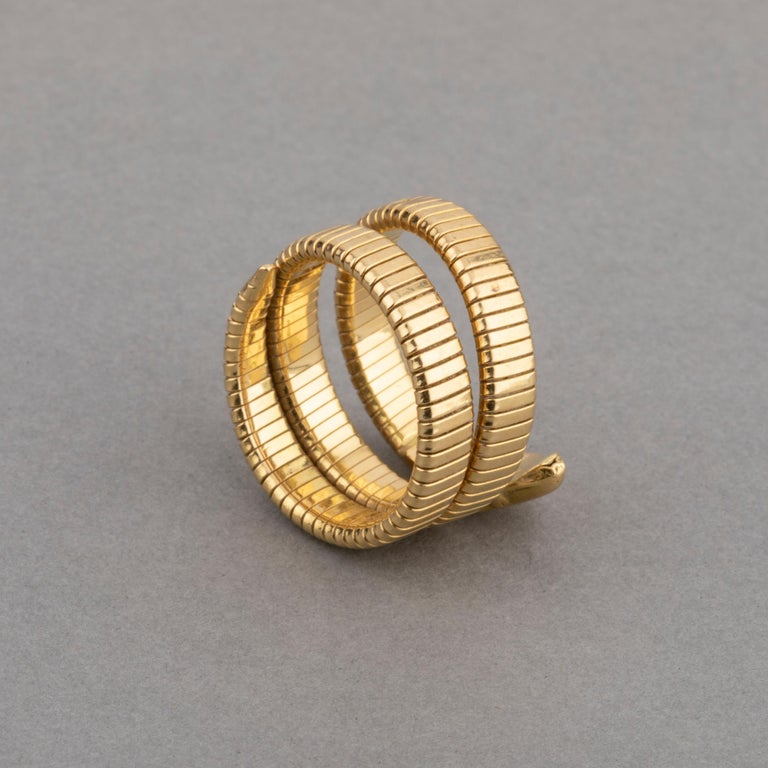 French Vintage Gold Snake Ring 1