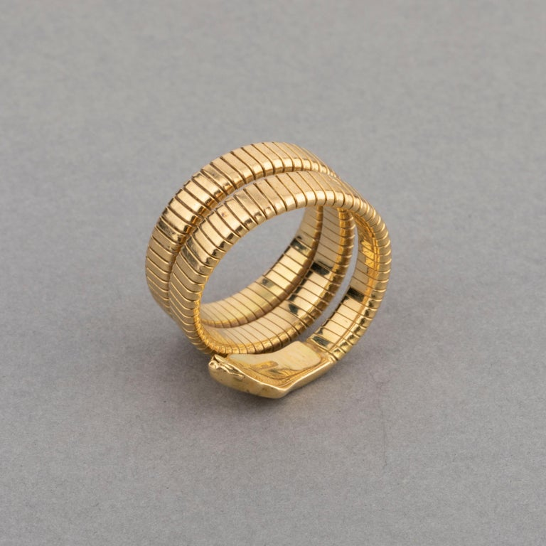French Vintage Gold Snake Ring 2