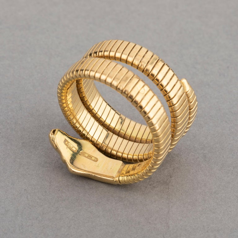 French Vintage Gold Snake Ring 3