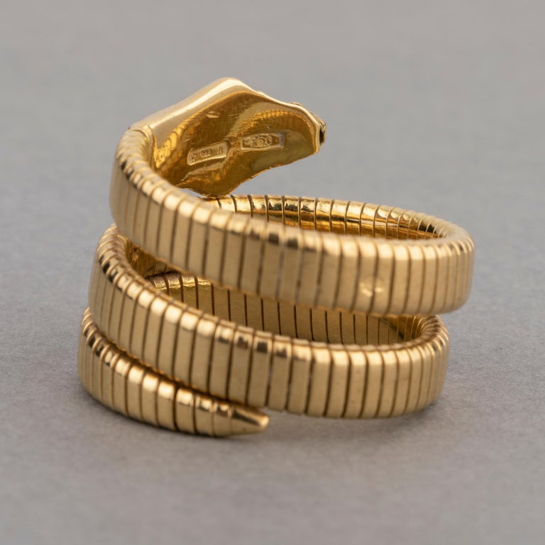 French Vintage Gold Snake Ring 4