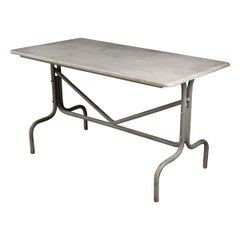 French Vintage Industrial-Style Bistro Table