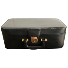 French Vintage Leather Beauty Case by Schilz, Paris, 1960s