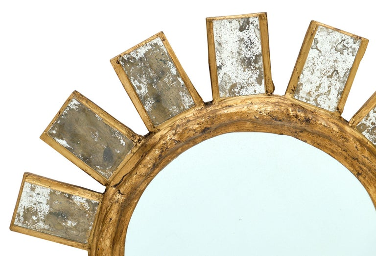 Modern French Vintage Line Vautrin Style Mirror For Sale