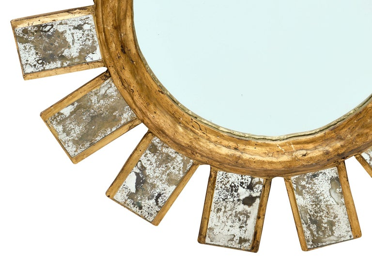 French Vintage Line Vautrin Style Mirror In Good Condition For Sale In Austin, TX