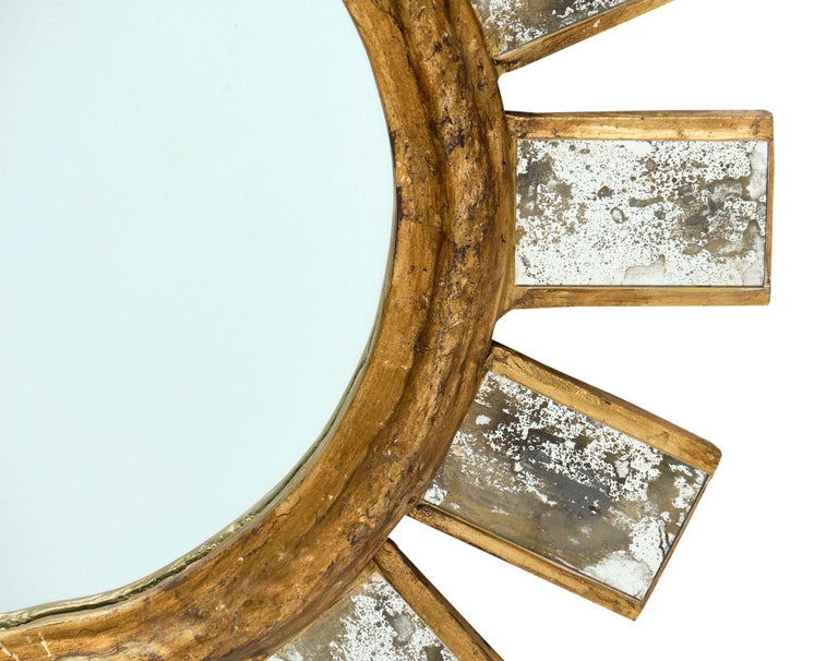 20th Century French Vintage Line Vautrin Style Mirror For Sale