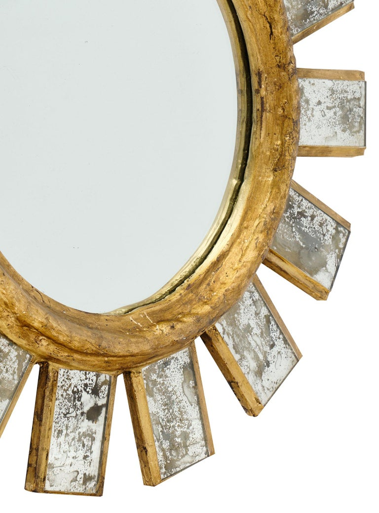 French Vintage Line Vautrin Style Mirror For Sale 4