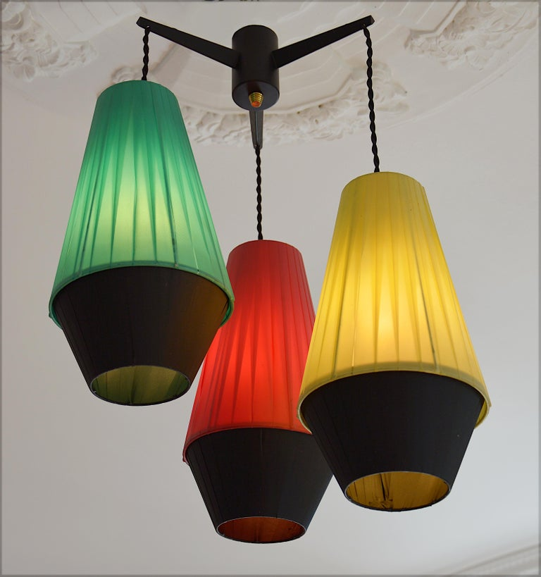 French Vintage Midcentury Ceiling Light 1950s