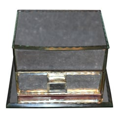 French Vintage Mirrored Jewelry Box