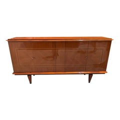 French Vintage Modern Exotic Mahogany Buffet or Sideboard