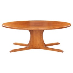French Vintage Oval Coffee Table