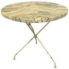 French Vintage Painted Bistro Table