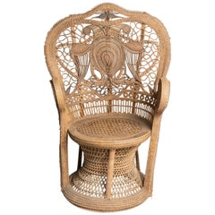 "French Vintage Rattan ""Emmanuelle"" Armchair"