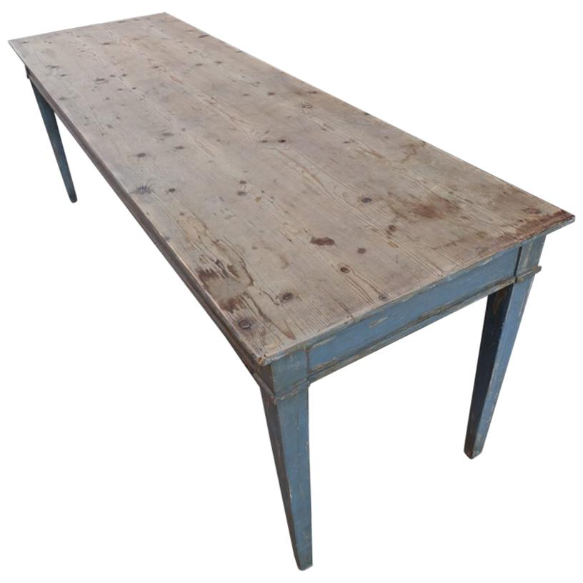 French Vintage Refectory Table For Sale