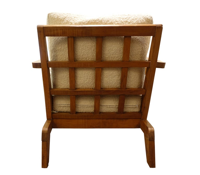 Mid-20th Century French Vintage René Gabriel Armchair, France, c. 1940s For Sale