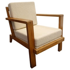 French Vintage René Gabriel Armchair, France, c. 1940s