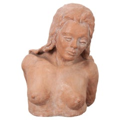 French Vintage Terracotta Bust