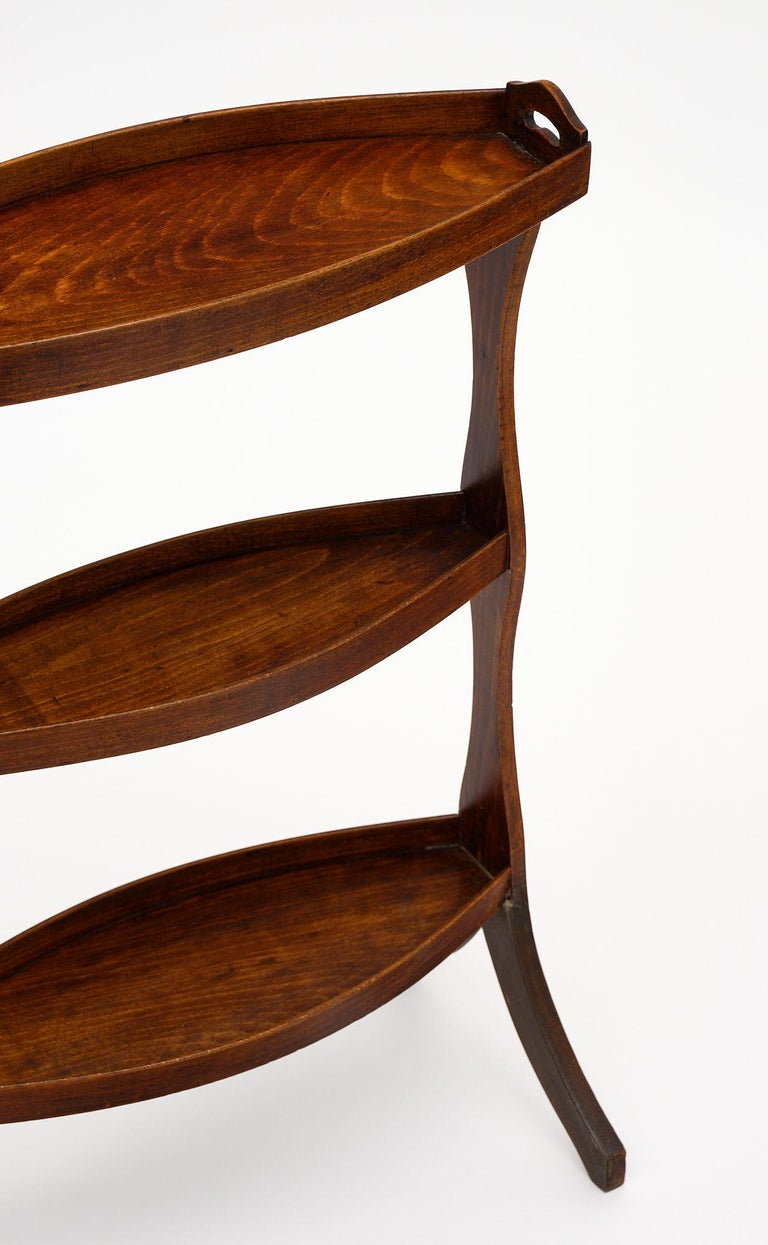 Art Deco French Vintage Walnut Side Tables For Sale