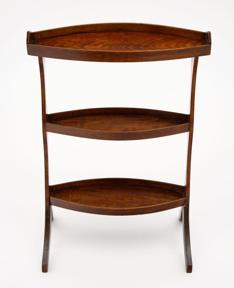 French Vintage Walnut Side Tables In Good Condition For Sale In Austin, TX