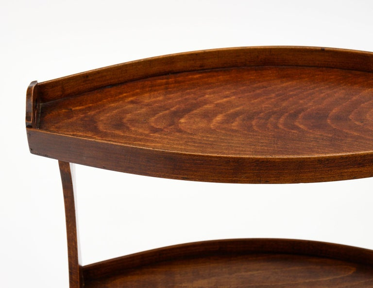 Mid-20th Century French Vintage Walnut Side Tables For Sale