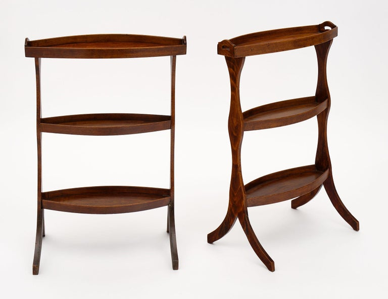 French Vintage Walnut Side Tables For Sale 4