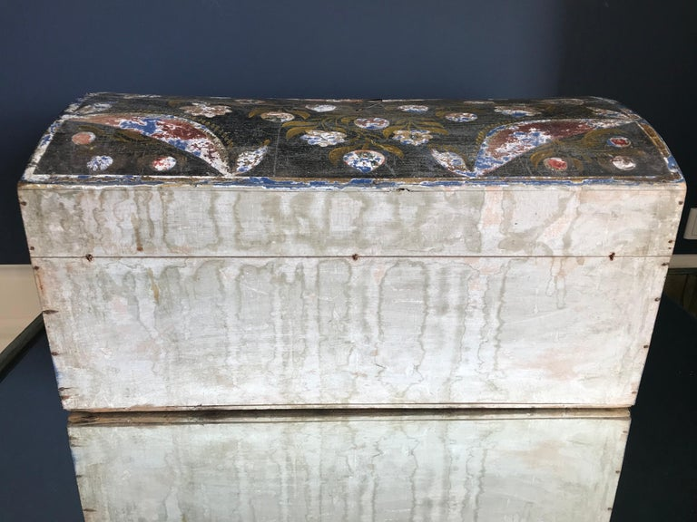 Wood French Vintage Wedding Chest For Sale