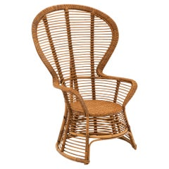 French Vintage Wicker Armchair