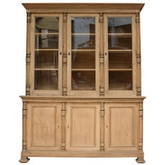 French Vitrine Cabinet Made of Oak, circa 1900