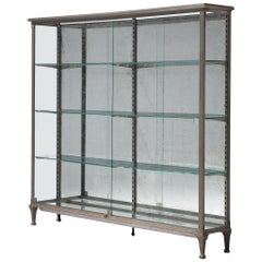 French Vitrine in Metal and Mirrored Glass