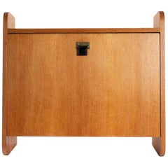 French Wall Cabinet Desk, Marcel Gascoin for Arhec Editor, 1950s