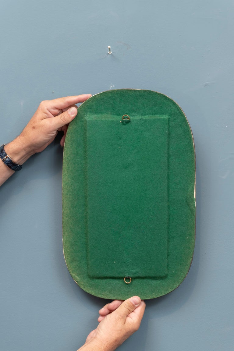 Ceramic French Wall Mirror after Roger Capron For Sale