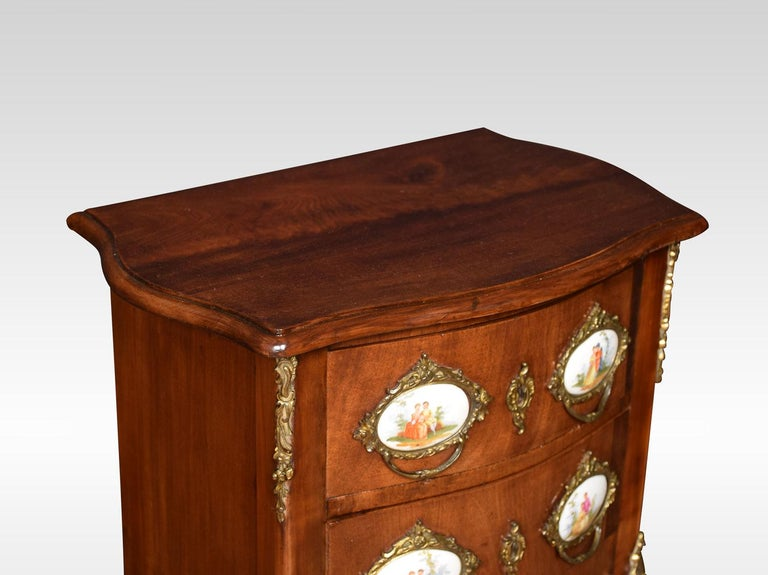 French Walnut and Gilt Metal Chest of Drawers 1
