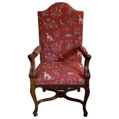 French Walnut Chair, circa 1890