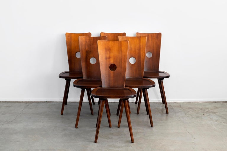 Mid-20th Century French Walnut Chair For Sale