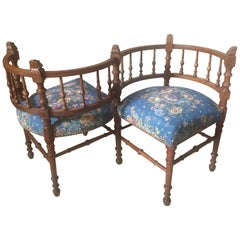 French Walnut Confident Armchair, 1900