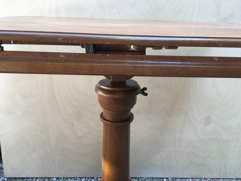 Art Deco French Walnut Dupond Adjustable Bookstand from 1920s For Sale