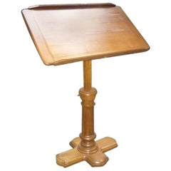 French Walnut Dupond Adjustable Bookstand from 1920s