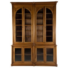 French Walnut Library Bookcase