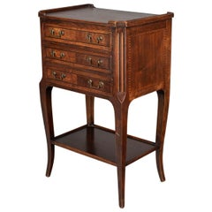 French Walnut Marquetry Side Table