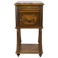 French Walnut Nightstand