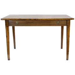 French Walnut Side Two-Drawer Table