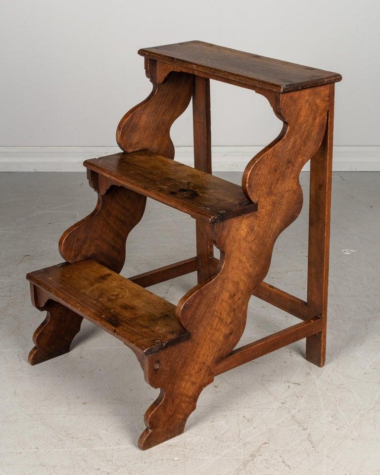 Fine French Walnut Step Ladder Machost Co Dining Chair Design Ideas Machostcouk