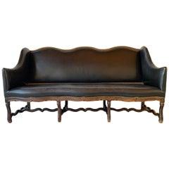 French Walnut Style Louis XIII Sofa