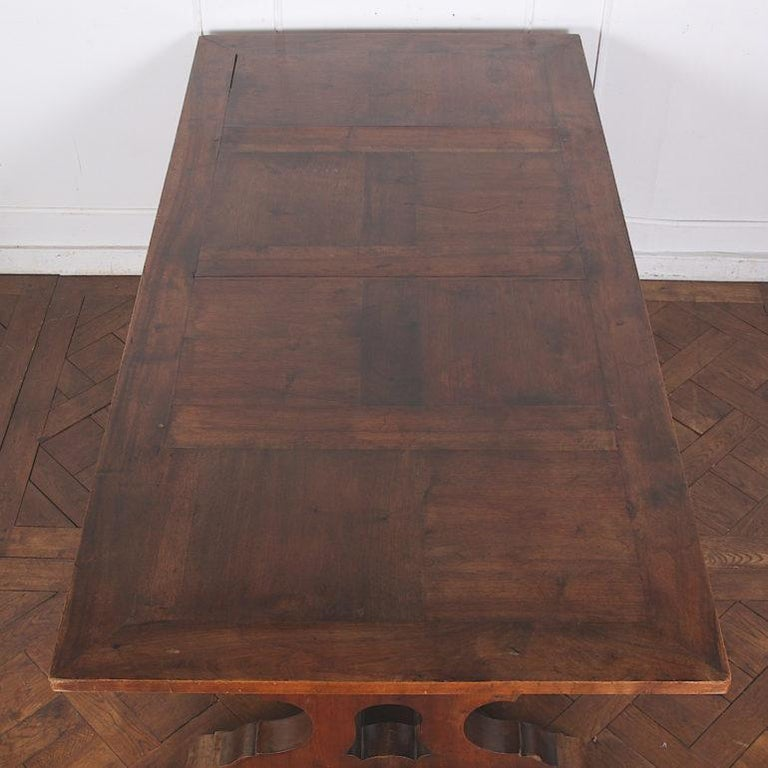 French Walnut Trestle Table For Sale 2