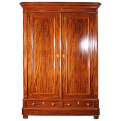 French Wardrobe 19 Century in Mahogany