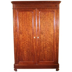 French Wardrobe 19th Century in Mahogany